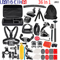 Аксессуары для камеры LANBEIKA 36 В 1 Gopro пряди с нагрудным штативом для GoPro 8 7 6 5 4 SJCAM SJ4000 SJ5000 SJ6 SJ8 YI
