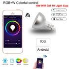Smart Bulb WiFi Dimmable RGB LED Bulb GU10 Lamp Led Lamp Spotlight Light Bulb Led Light with RemoteControl Work with Google Home
