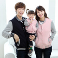 Осень зима Семья посмотрите одежда Осень бейсбол пальто куртки мать и дочь сын отца детская одежда мальчик девочка мамы мне