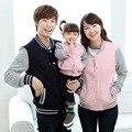 Outono inverno Família olhar Queda roupas de beisebol jaqueta casaco mãe e filha filho pai roupas infantis da menina do menino da mamãe me