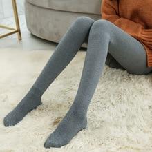 B100 Combed Cotton Vertical Lap Hairy Legging Autumn Winter Slim Was Thin Together Leggins Women stretch  Calca Legging Feminina