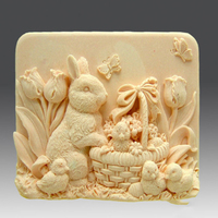 New 2013 Easter Rabbit Handmade Soap Silicone Mold Silica Gel Mould Silicon Candle Moulds Gift Favors