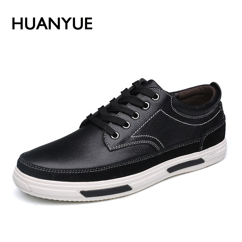 2018 New Men Shoes Spring/Summer Men Casual Shoes High Quality Lace Up Flat Shoes For Men Zapatos Hombre Business Shoe Leather high quality men flats casual new genuine leather flat shoes men oxford fashion lace up dress shoes work shoe sapatos