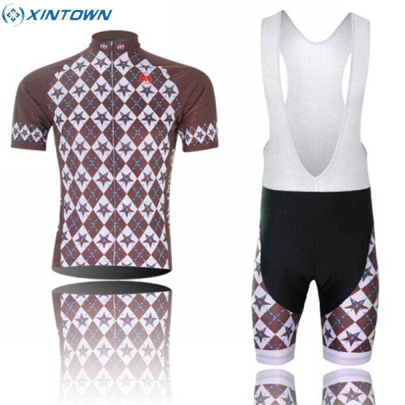 XINTOWN Men's Cycling Bike Team Ropa Ciclismo Short Sleeve Clothing Bicycle Sports Wear Set Jersey & Bib Shorts Singhe Grey xintown summer breathable mens team short sleeve cycling jersey riding clothing polyester bike set fluorescent shark