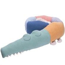 Бампер для детской кровати 185 см крокодиловые плюшевые игрушки Длинные подушки подушечки для детской кроватки вкладыш украшение детской комнаты реквизит для фотосессии