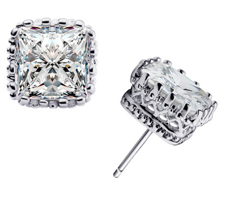 JEXXI 2018 New Arrival 3 Colors Small 925 Sterling Silver Stud Earrings With Cubic Zirconia Free Shipping For Women's Gift