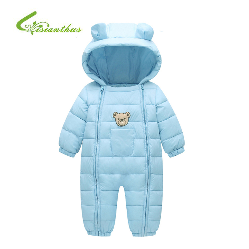 Winter Baby Romper Overalls Clothes Jumpsuit Cartoon Newborn Girl Boy Cotton Snowsuit Kids Infant One-pieces Hooded Warm Outwear newborn infant warm baby boy girl clothes cotton long sleeve hooded romper jumpsuit one pieces outfit tracksuit 0 24m