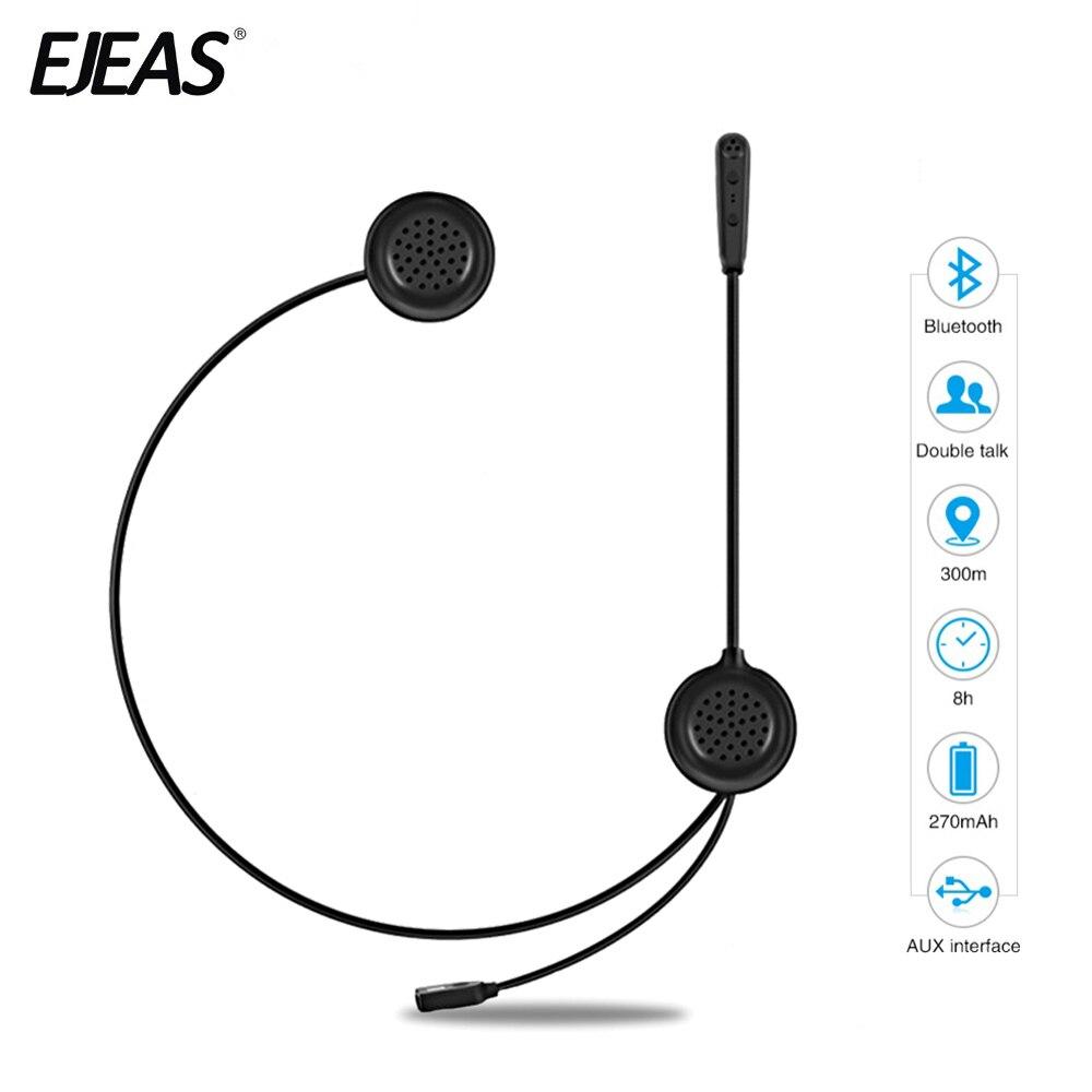 EJEAS Helmet Headset Motorcycle Intercom Bluetooth Interphone Wireless Headset Radio Interphone Moto Intercom 300m For 2 Rider