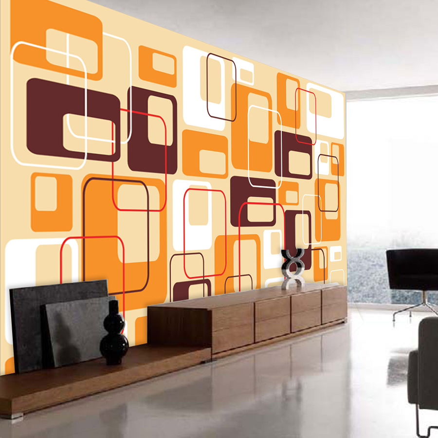 ShineHome Abstract Square Color Brick Pattern Wallpaper Wall 3d ...