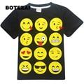 teens kids boys girls t-shirt 2017 newest style Emoji print short sleeve t shirt for child fashion nova novelty teenager clothes