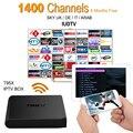 Europea IPTV Caja Android TV Box IPTV Receptor 1400 + Cielo Cielo Francés Turco Holanda Canales Mejor Que MXV Android Caja de la TV