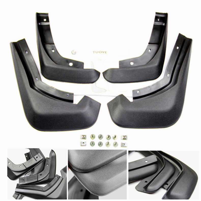 4 Pcs Black Mud Flaps Splash Guards Mudguard Mudflaps Fenders For Volvo S60 2010 2016 Years