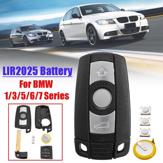 With Blade Button Battery Remote 3 Button Car Key Shell Case Styling