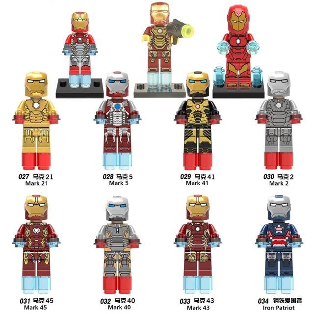 все цены на Iron Man Marvel Avengers Super Hero Figure Marvel Ironman Iron-Man legoings Building Sets Model Bricks legoing Iron man Blocks