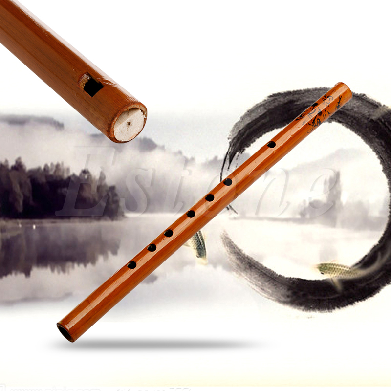 Traditional 6 Hole 30cm Long Bamboo Flute Clarinet Student Musical Instrument
