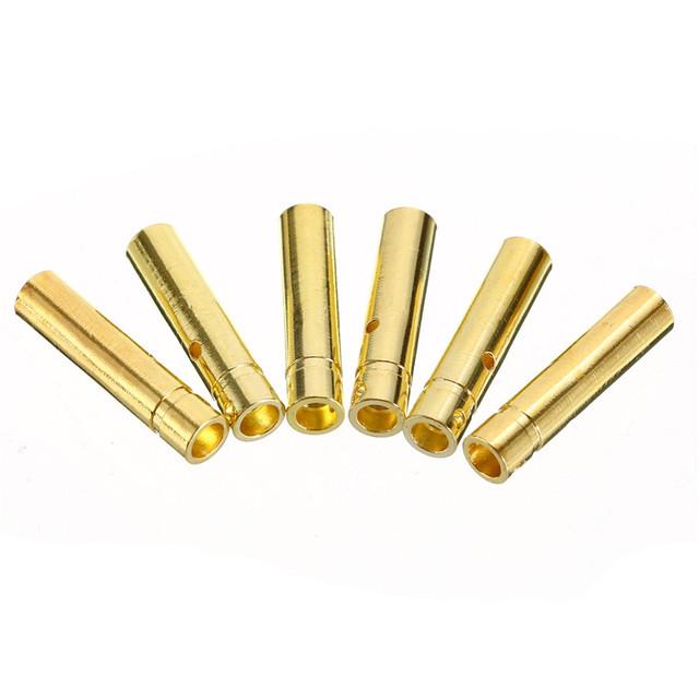 Mayitr 10Pair 4mm RC Battery Gold-plated Bullet Banana Plug High Quality Male Female Bullet Banana Connector