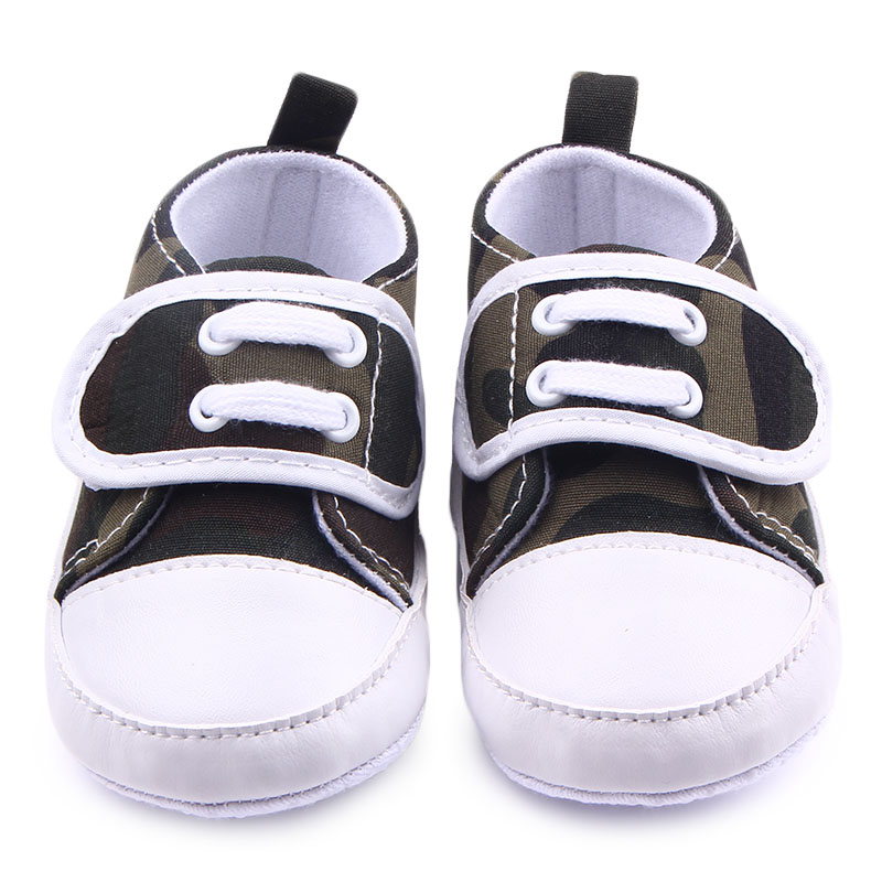 New Born Baby Canvas Shoes Soft Bottom Hook & Loop Infant First Walking Toddler Shoes Colorful Baby Boy Girl Sports Shoes