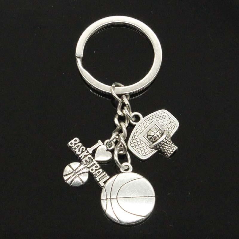 I Love Basketball Basketball Hoop Pendants Diy Handmade Men Keychain Car Keychain Jewelry Souvenir For Gift