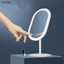 20 LED Lights Rotating Desktop Mirror Touch Screen Makeup Mirror Professional Vanity Mirror Beauty Adjustable mirror light