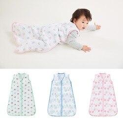 LionBear śpiwór dla dziecka koperta dla noworodków 4 warstwy 6-12 miesięcy 100% muślin bawełna 2 Zipper Sleepsacks pościel dla dzieci worki