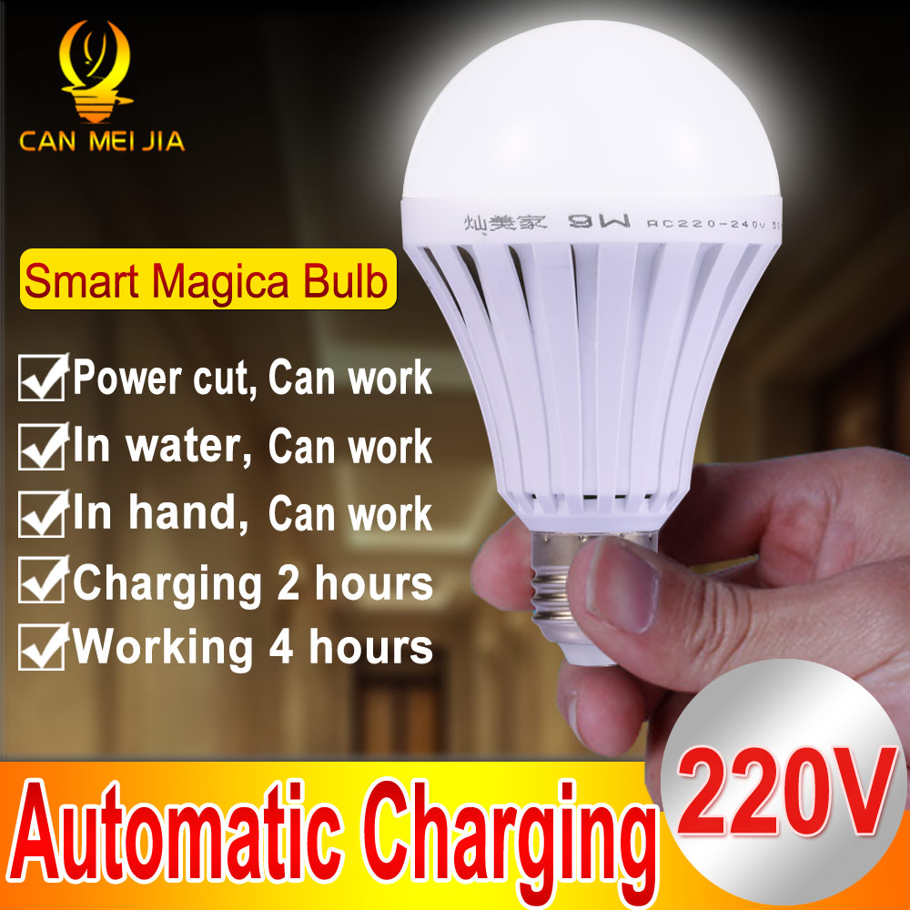 Magical E27 LED Lamps 5W 7W 9W 12W B22 Emergency Light Bulb E27 Led Bulb Rechargeable Lighting Lamp 220V Bombillas Leds Light led smart bulb e27 5w 7w 9w led emergency light 85 265v rechargeable battery lighting lamp for outdoor lighting bombillas