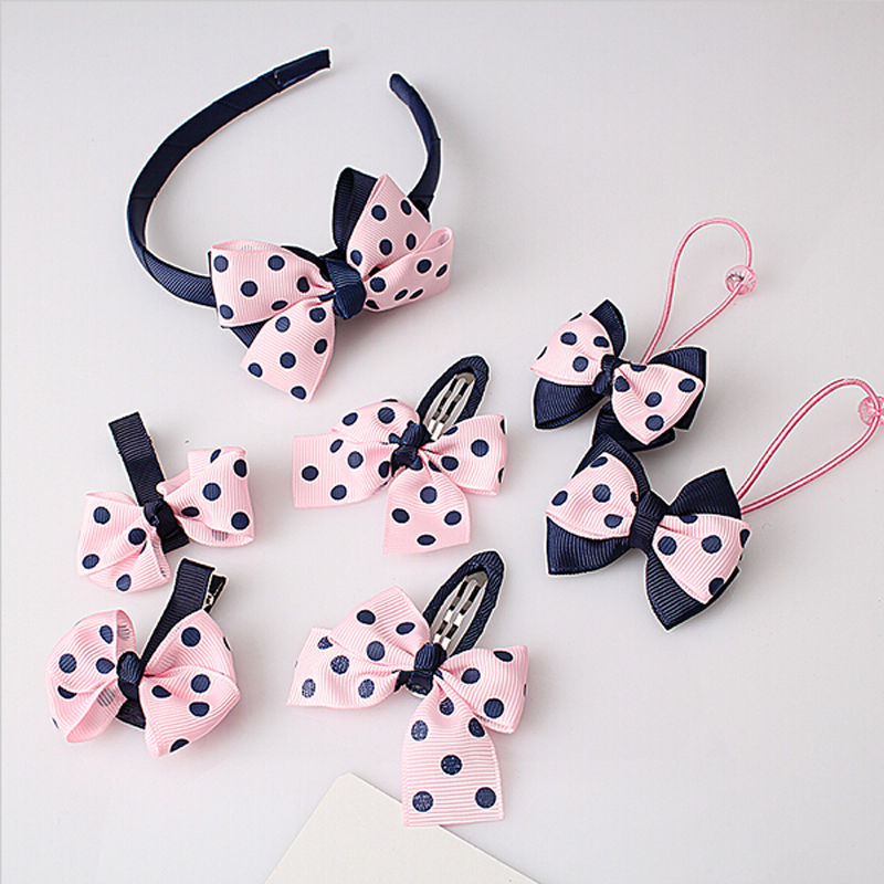 Efficient 7pcs/set Kid Girl Infant Baby Headband Bow Flower Hair Band Accessories Headwear Wholesale/ratil Girls' Baby Clothing