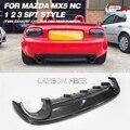 Для Mazda MX5 Roadster Miata NC 1 2 3 SPT стиль задний диффузор из углеродного волокна (двойной Выпускной выход  для OEM бампера) бампер сплиттер