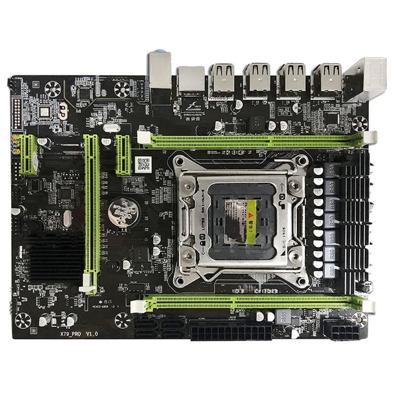 X79M Pro Motherboard Para Intel Lga 2011 Ddr3 E5 2640 2650 2660 2680 1333/1600/1866 Mhz 32 gb M.2 Pci-E M-Atx Mainboard