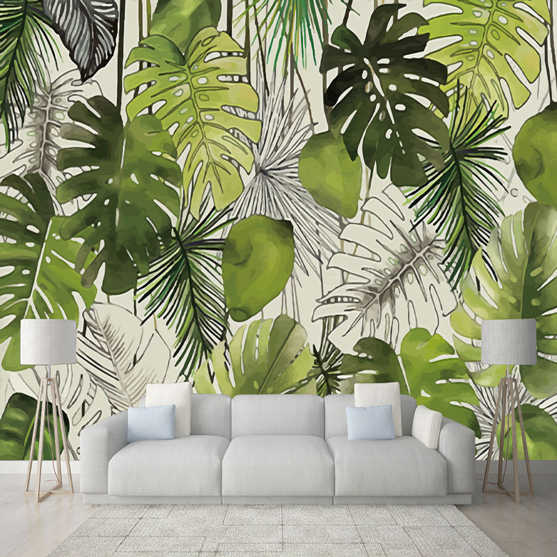 Modern Simple 3D Banana Leaf Mural Wallpaper Living Room Restaurant Cafe Background Wall Covering Home Decor Papel De Parede 3