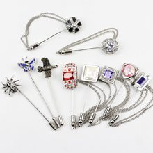 Men's Advanced Suits Vintage Brooches Crystal Wheel Shawl Pin Lapel Corsage Collar Pin Brooch Accessories Flyer Butterfly Spider