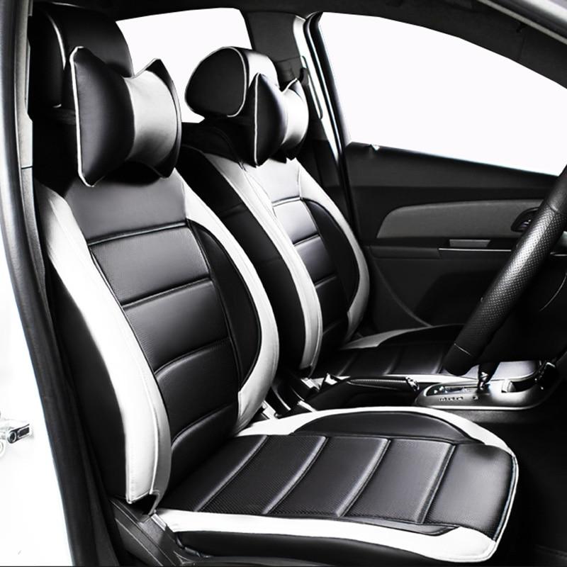 Custom leather Car Seat cover For Ford Focus 2 3 Fushion mondeo Fiesta Edge Explore Kuga