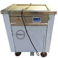 Fully stainless steel R410A environmental friendly fast cooling 30 degree ice cream roll fryer fried ice cream machine