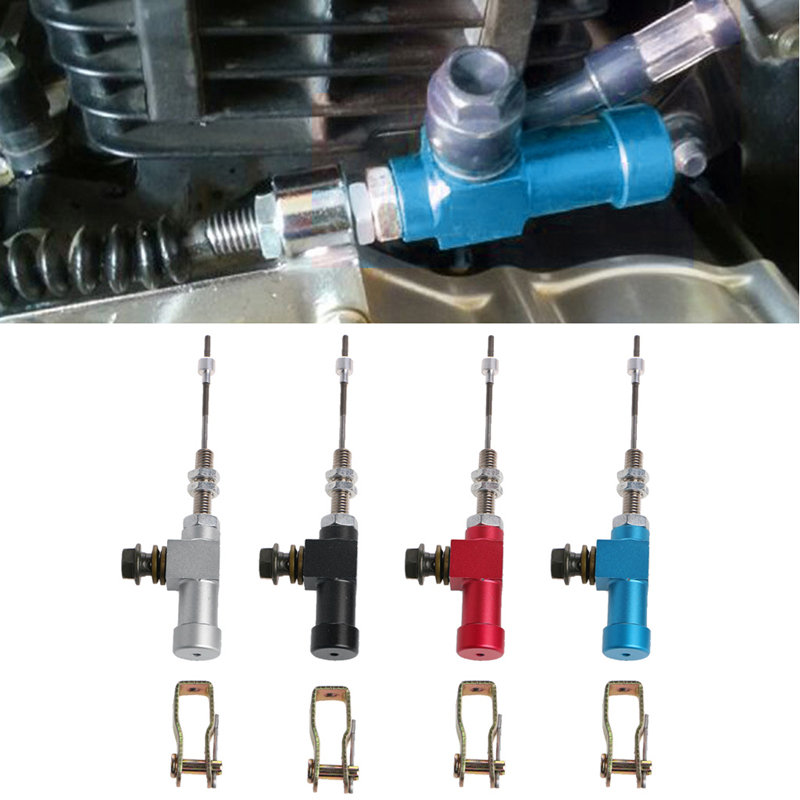 Automotive Qiilu M10x1.25mm Universal Motorcycle Hydraulic Clutch Master Cylinder Rod Brake Pump For Dirt Bike Pit Bike ATV Quad Scooter Motorcycle Blue Motorbikes, Accessories & Parts