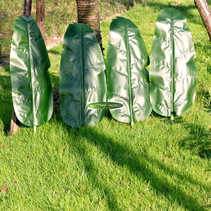 75cm Latex 36pcs Artificial Banana Plant Tree Leaf Branch Christmas