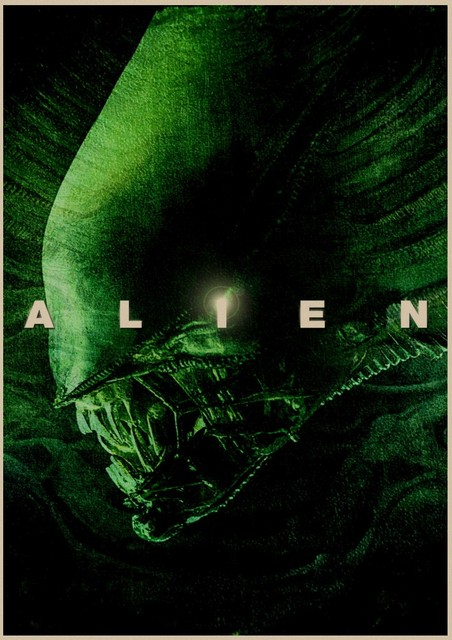 Vintage Poster Science Fiction Horror Fantasy Alien 1979 Movie