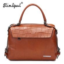 ELIM&PAUL Women Leather Handbags Women Messenger Bags Ladies Bolsa Feminina Women Bag Top-Handle Bag Handbags Crossbody Bag 7194
