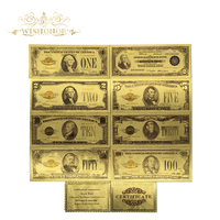 All Types American Banknote 24k Gold Plated Dollar Banknote in 24k Gold Fake Money Art Crafts Commemorative For Collection|Gold Banknotes|Home & Garden -