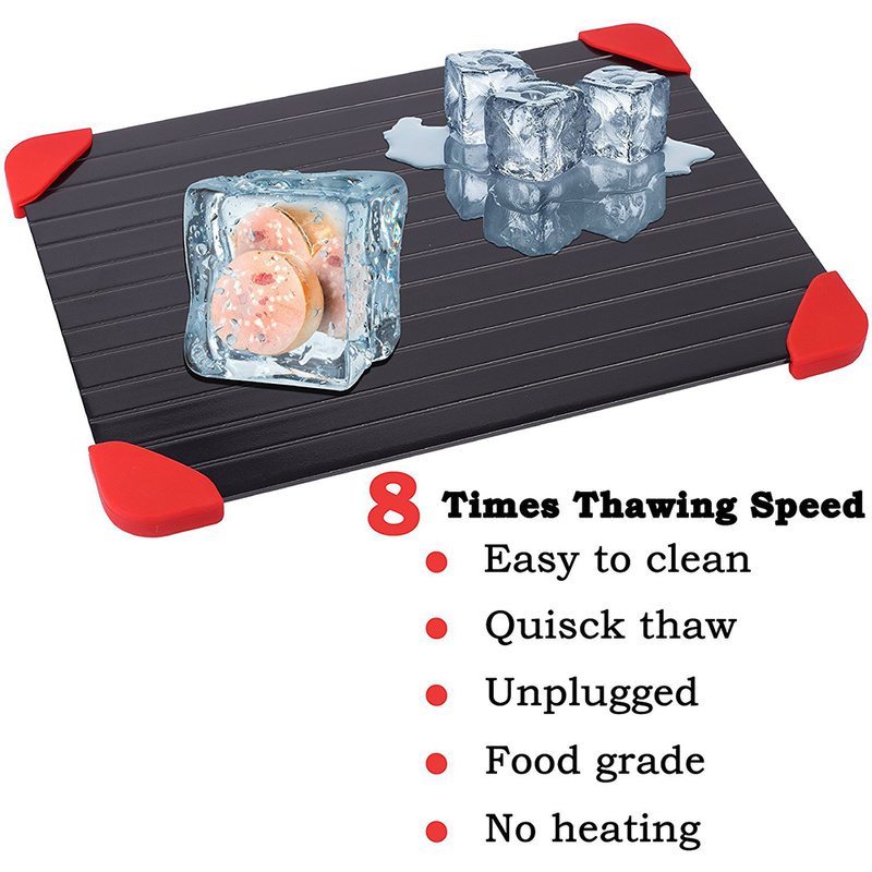 Defrost Tray Rapid Thaw Fast Tray Magic Metal Plate Defrosting Tray Safe Fast Thawing Frozen Meat Defrost Kitchen Tool