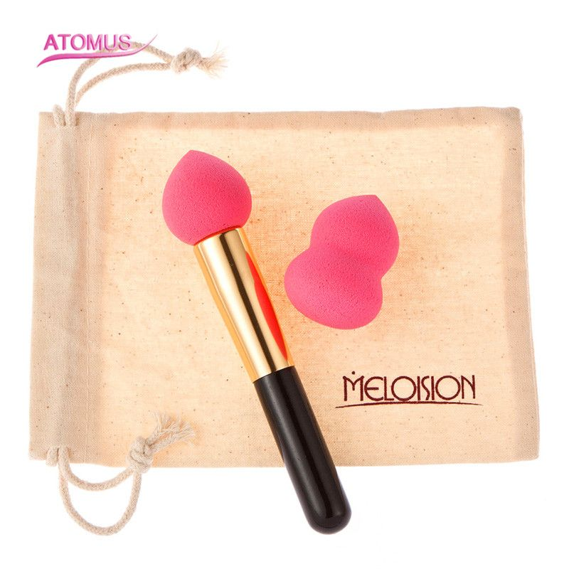 Pink Makeup Brushes Blender Foundation Powder Sponges Applicator Soft Brush Puff Beauty Cosmetic Stage Makeup Tools professional 5pcs mix colors cosmetic makeup sponge blender powder foundation puff flawless smooth shaped sponges makeup blender