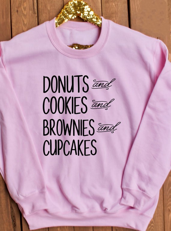 Donuts Cookies Browns Cupcakes Rosa Sweatshirts Tumblr Sweatshirt