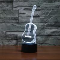 Guitar Saxphone Camera Shape 3D Illusion Table Lamp Led Bulbs Night Light For Home Decor Novelty