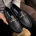 Verano Marca Hombres Mocasines Zapatos de Conducción de Cuero Genuino Superior del Hombre de los Zapatos de Moda Casual Mocasines Pisos Hombre Slip On Sapato Masculin
