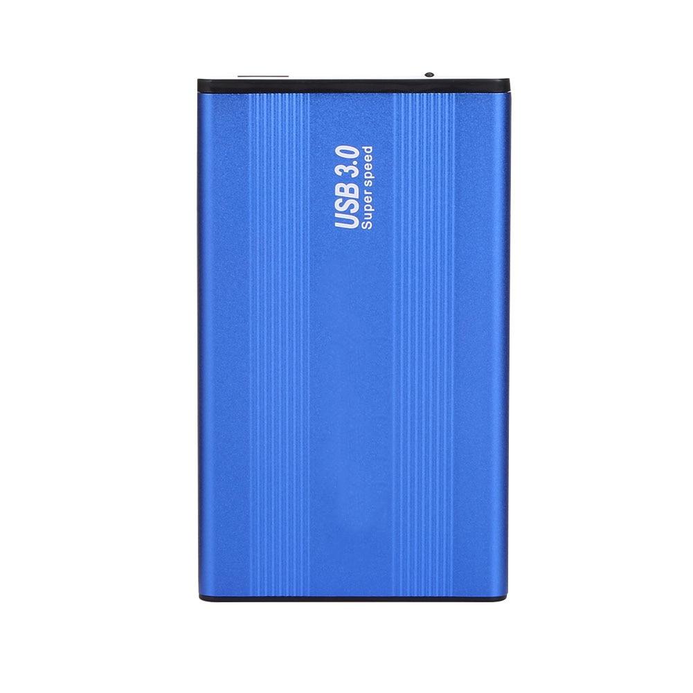 HDD Box 2,5 Zoll USB 3.0 Gehäuse Aluminium Legierung SATA 1 TB Externe Festplatte HDD Fall Blau