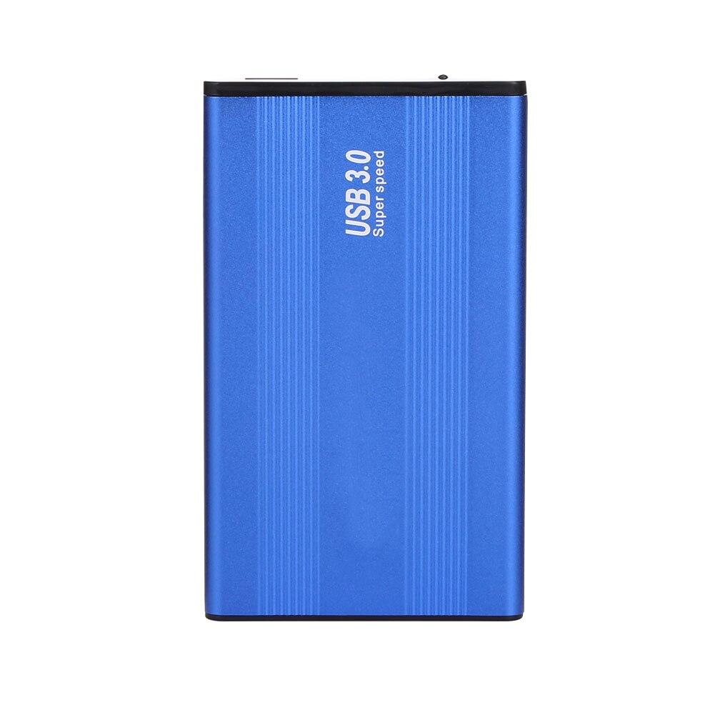 HDD de 2,5 pulgadas USB 3,0 carcasa de aleación de aluminio de SATA de 1 TB de disco duro externo HDD caso azul