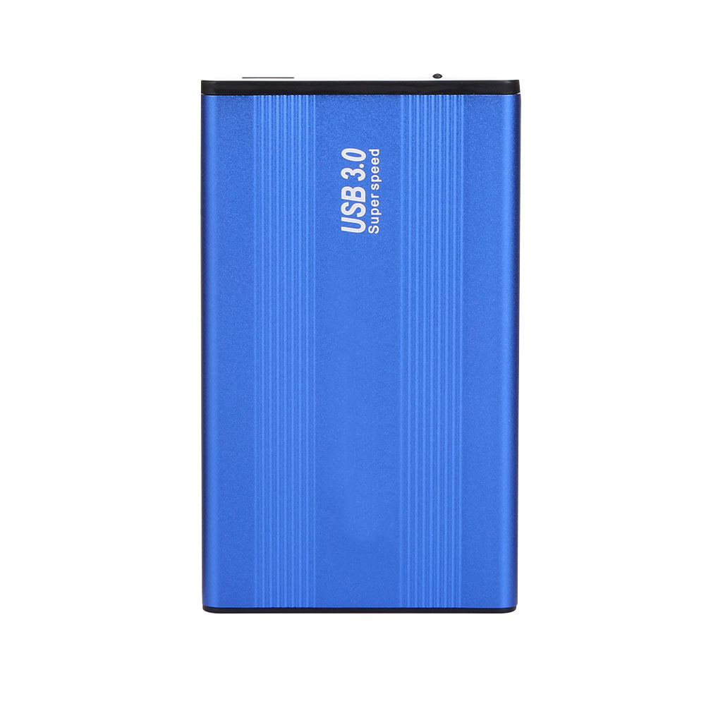 High Speed USB 3.0 HDD Hard Drive External Enclosure Aluminum Alloy 2.5 Inch SATA HDD Hard Disk Drive Case Blue hdd Box wifi router rj45 usb 3 0 wireless wifi repeaterextender hard disk sata 3 5 hdd hard drive 1tb 2tb 3tb 5gbps external hdd case