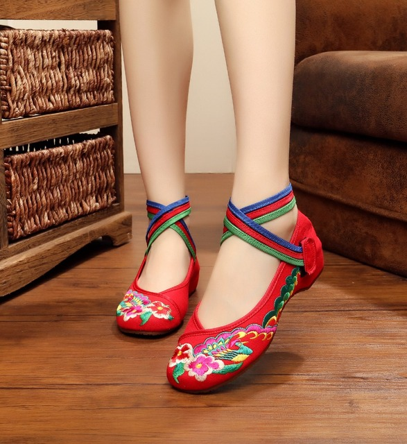 Style Phoenix De Mariage Femmes Vieux Broderie Chaussures Pékin q61OwxC