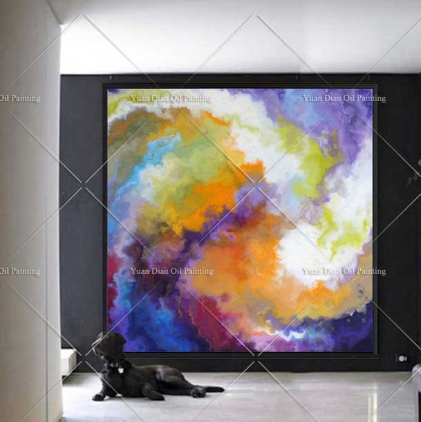 Tornado Colorful Large Handpainted Abstract Landscape Oil Painting ...