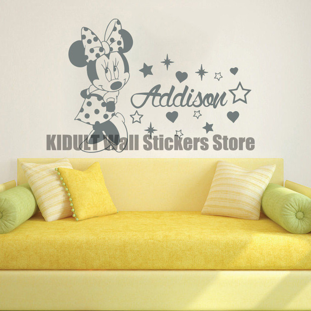 Cartoon Wall Stickers Can Ai Mini Baby Girl Home Indoor Children\'s ...