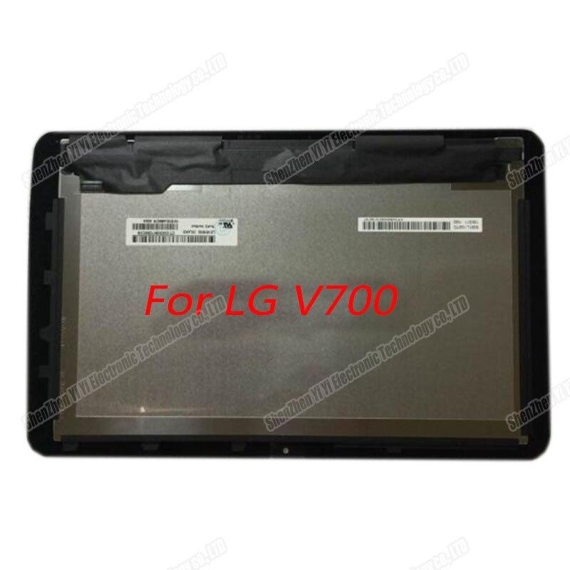 Livraison gratuite 10.1 pouces nouveau pour LG G Pad V700 LCD écran tactile numériseur cadre de remplacement