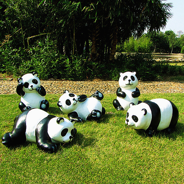 Attractive Simulation Giant Panda Garden Courtyard Garden Ornaments Outdoor Garden  Ornaments Cartoon Landscape Sculpture